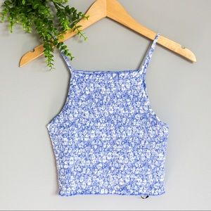 ✨3 for 20   Floral Crewneck Cropped Tank Top